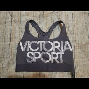 NWOT**Victoria's Secret Sheer-Back Logo Sports Bra